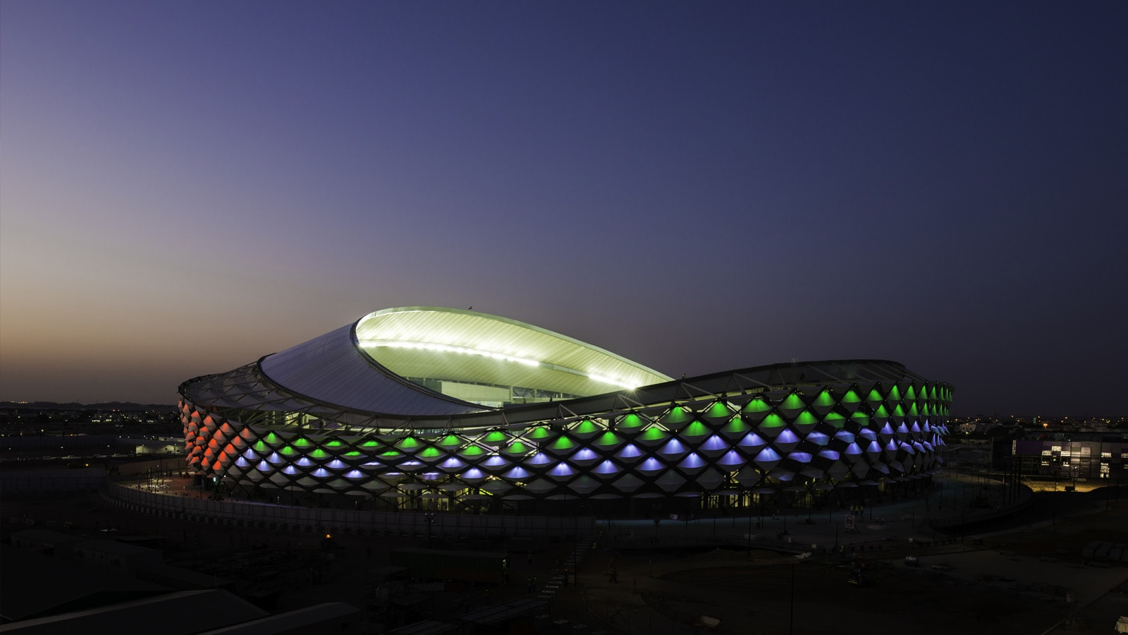 SACO ILLUMINATES ONE OF TODAY'S MOST STUNNING ARCHITECTURAL FEATS – THE HAZZA BIN ZAYED STADIUM, AL AIN CITY
