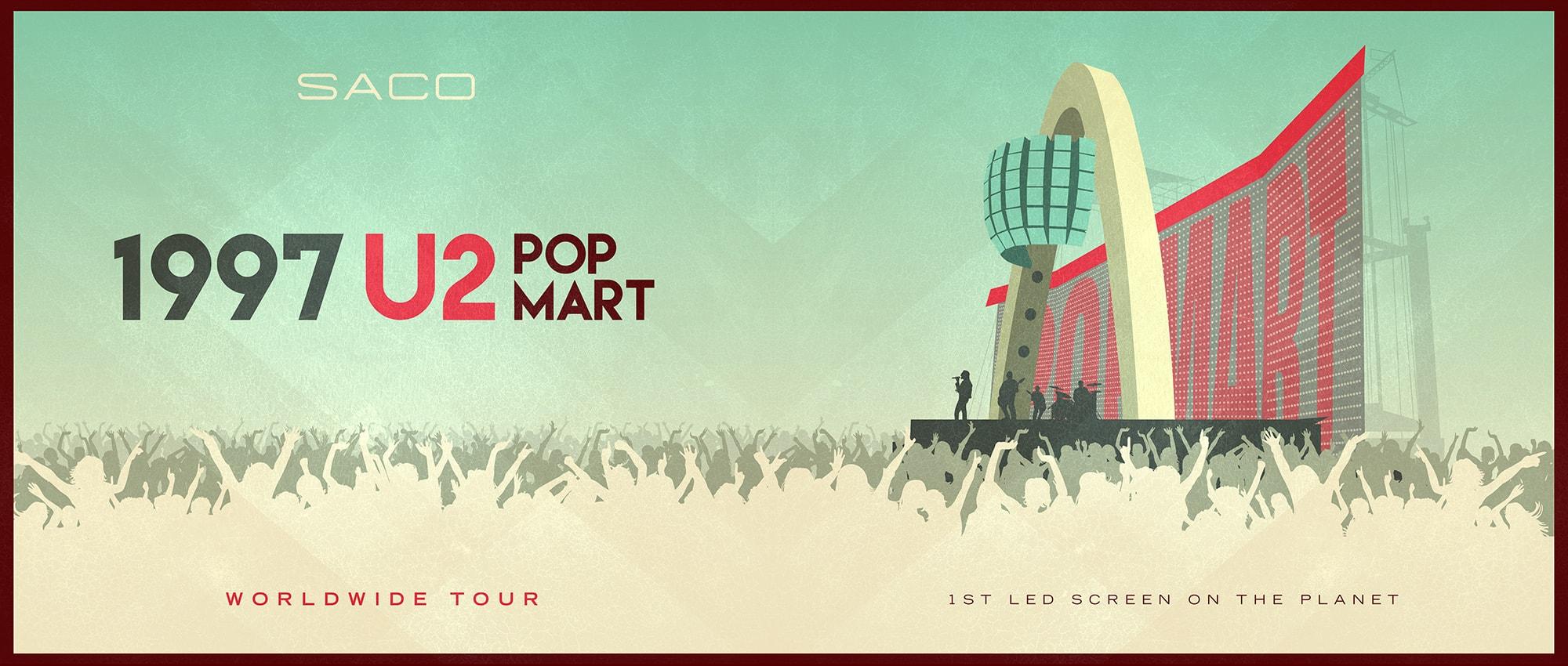 AFFICHE DE TOURNÉE U2 POP MART