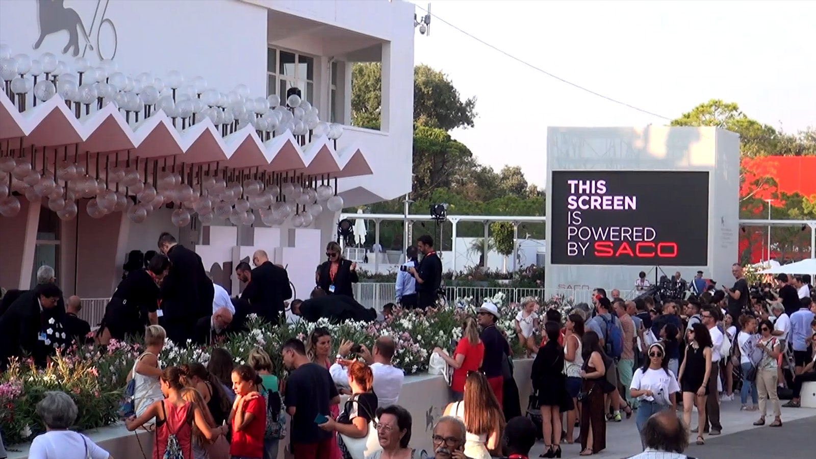 VENICE FILM FESTIVAL LED VIDEO SCREEN POWERED BY SACO